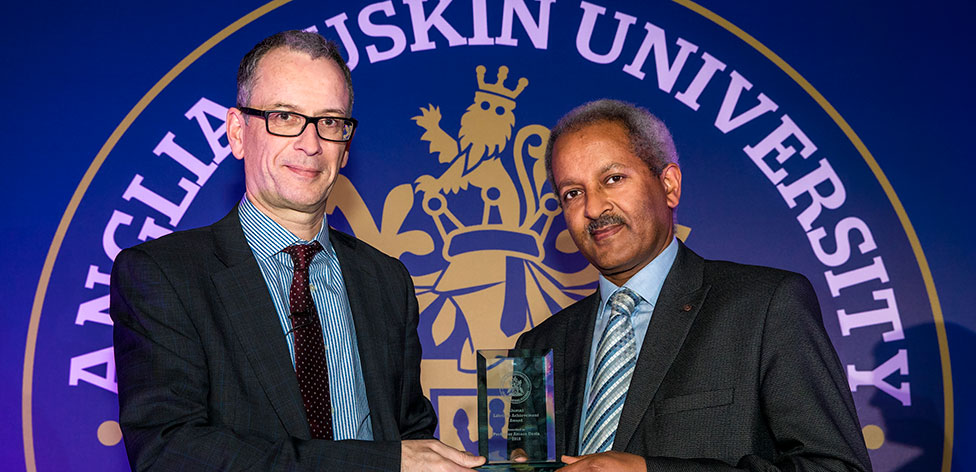 Prof Amare Desta won our Alumni Lifetime Achievement Award