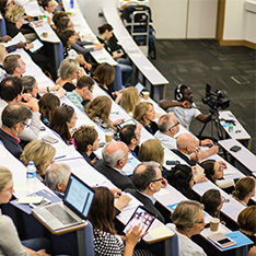 Lecture theatre filled with delegates for learning and teaching conference