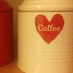 Storage canister with 'Coffee' on the front