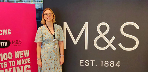 University student Emma on placement at M&S