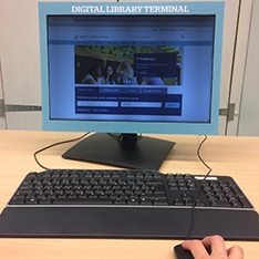 view of a screen with library information