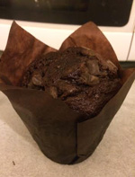A chocolate muffin