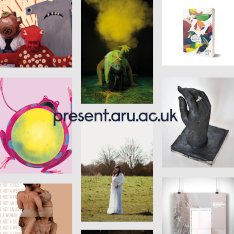 Selection of student work images from the Present Showcase site