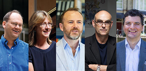 Five staff members from the Faculty of Arts, Humanities and Social Sciences
