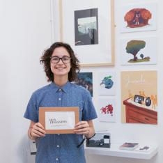 Joana Pinto with her New Designers 2019 award and winning display
