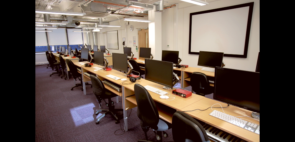 Audiovisual lab at Compass House