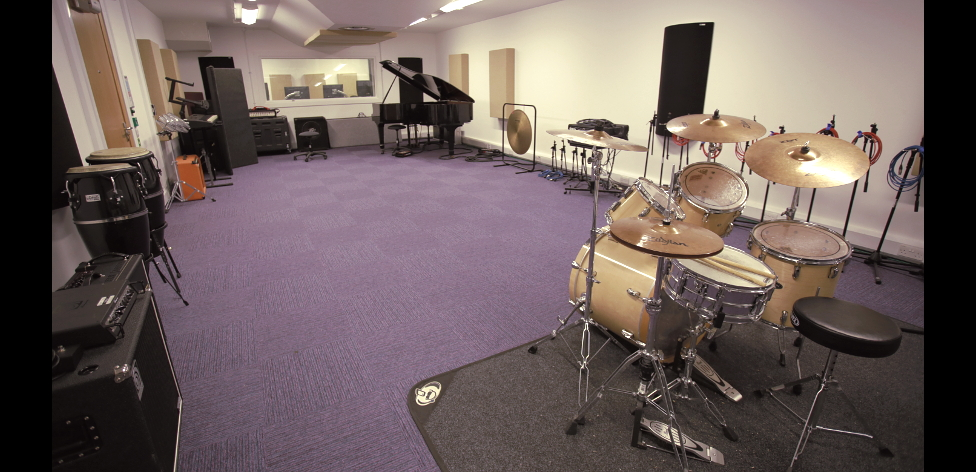 The live room in Recording Studio 5 at Compass House