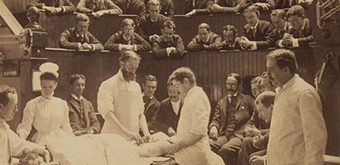 an operating theatre in the 19th century