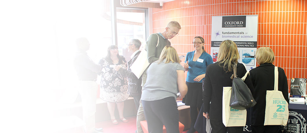 Delegates networking at an ARU conference