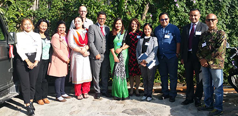 Group of people, including ARU researchers, pictured in Nepal