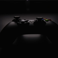 A photo of a black Xbox controller