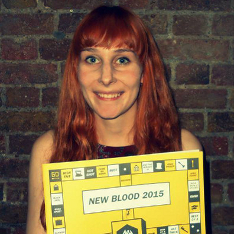 Hannah Bigley with her certificate for the D&AD awards