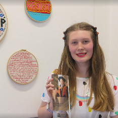 Sophie Neville with the Supanee Gazeley Prize trophy