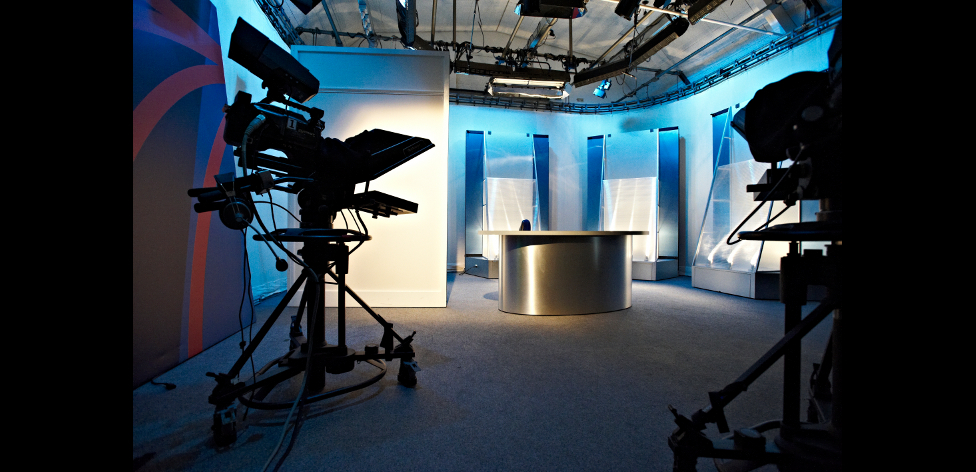 The TV Studio on ARU's Cambridge campus