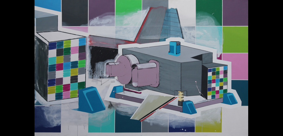 'Design and Build 1', Acrylic and oil on canvas, 140 x 220cm, 2013
