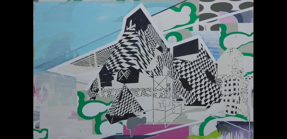 'Untitled City 1', Acrylic and oil on canvas, 140 x 220cm, 2011