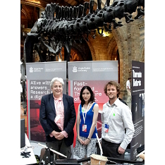 The CoDE team at the Natural History Museum (Richard Hoadley, Mariana Lopez, Rob Toulson)
