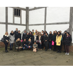 English Language staff and students at the Globe Theatre, London