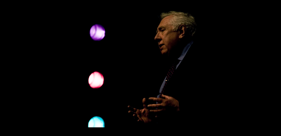 Roy Hattersley on stage