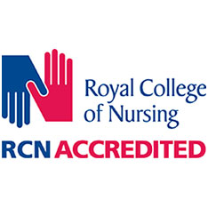 Royal College of Nursing Logo Accredited