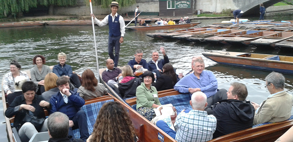 Evening punt on the river Cam