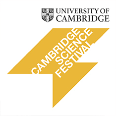 Yellow Cambridge Science Festival logo