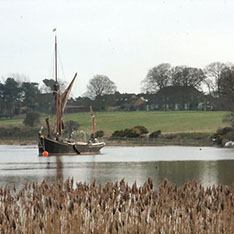 Image of boat on estuary