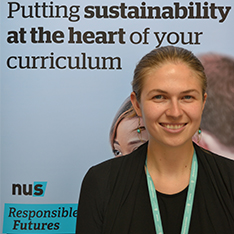 Head shot of Victoria Tait, Education for Sustainability coordinator.