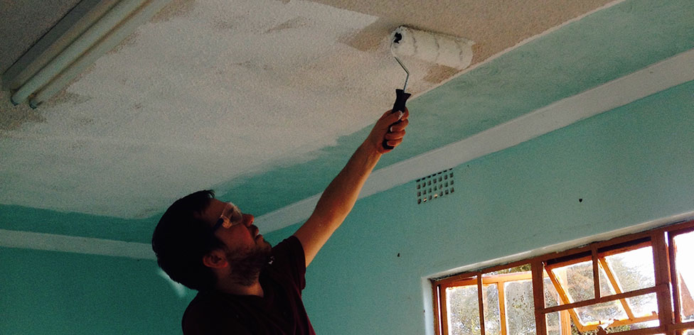 Repainting the ceiling