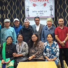 Dr Raju Sapkota with members of Hayes and Harlington's Nepalese community