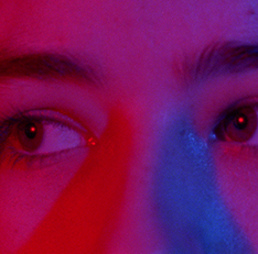 Film still: close-up of woman's eyes