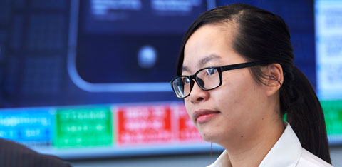 Student in Bloomberg Financial Markets Lab