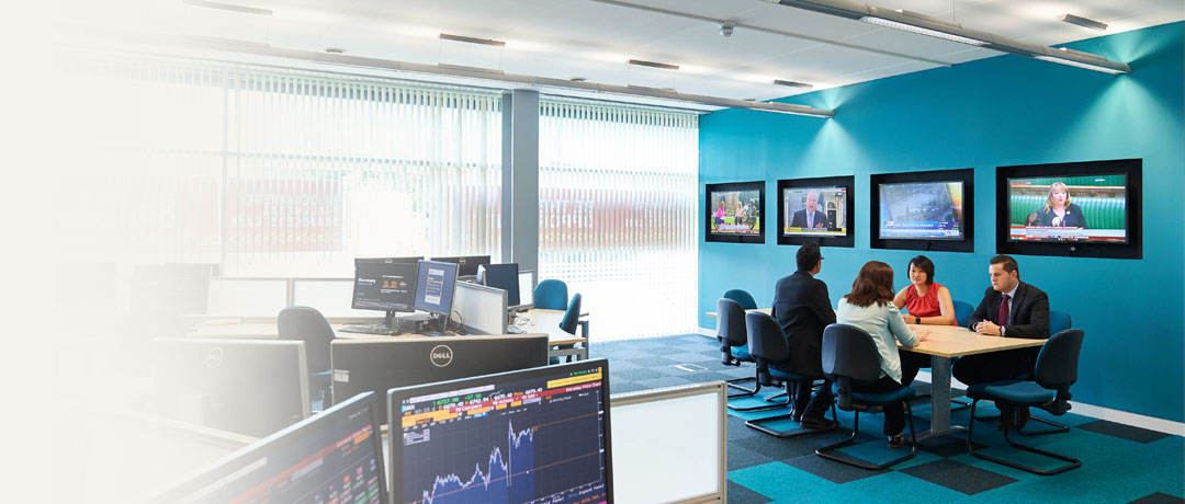 Meeting in the Bloomberg Finance lab