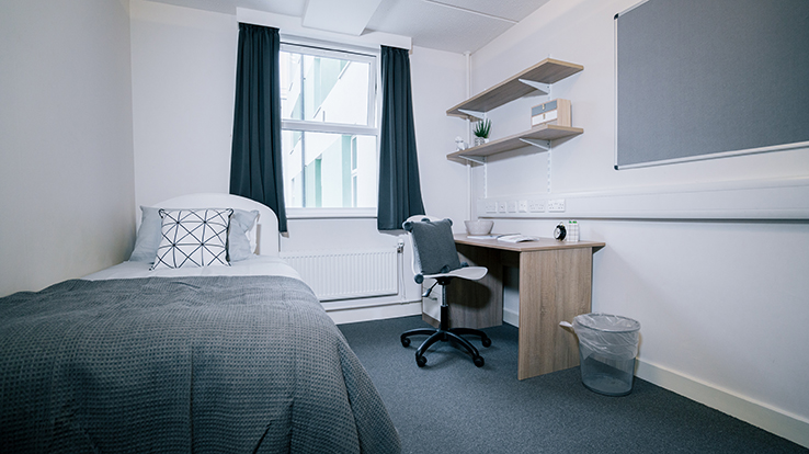 Bedroom in Harston House at Addenbrooke's Hospital