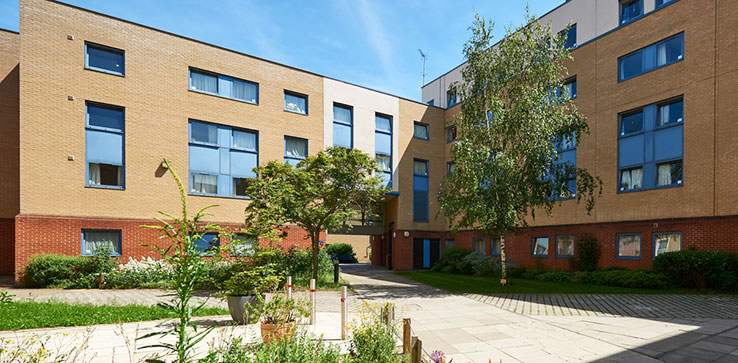 Exterior photo of Peter Taylor House student accommodation
