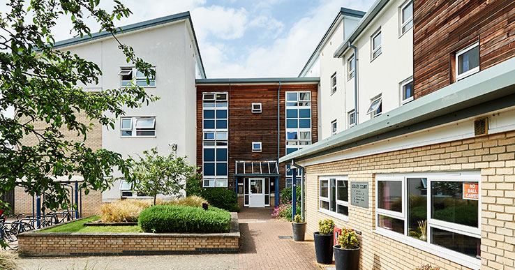 Exterior photo of Sedley Court student accommodation