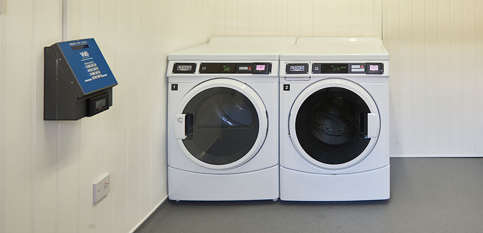 Washing machines in the laundry room
