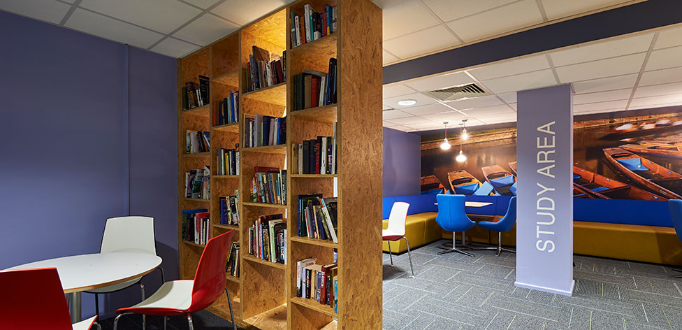 Study area in common room