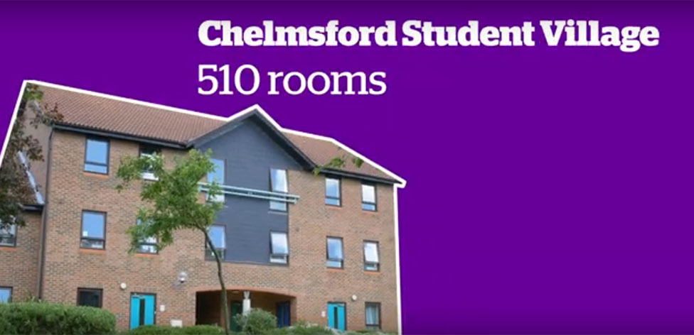 Chelmsford Student Village is right next door to campus
