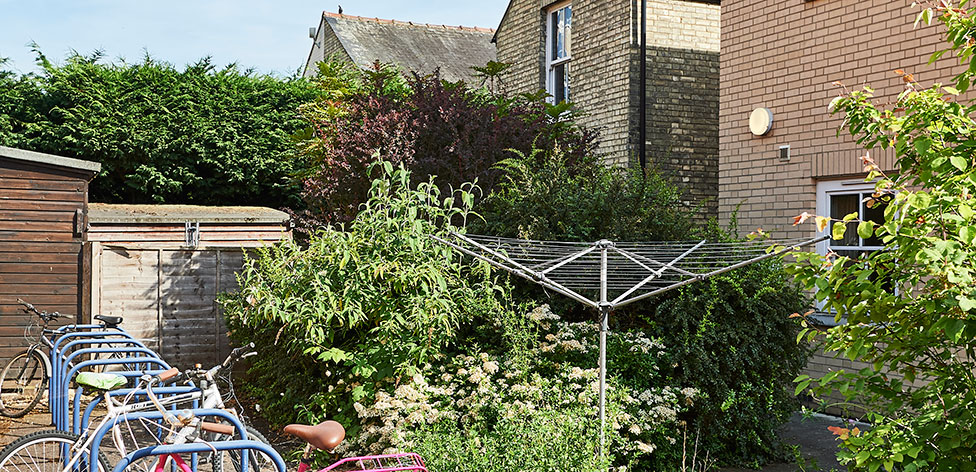Bicycle storage in the back garden