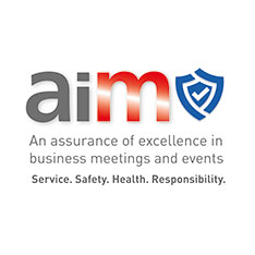 Logo: Aim - an assurance of excellence in business marketing and events