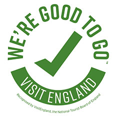 We're good to go: Visit England logo