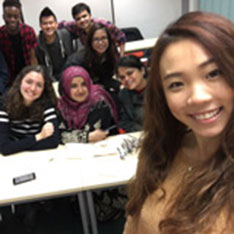 ARU student Ashley Chea with other members of the International Society