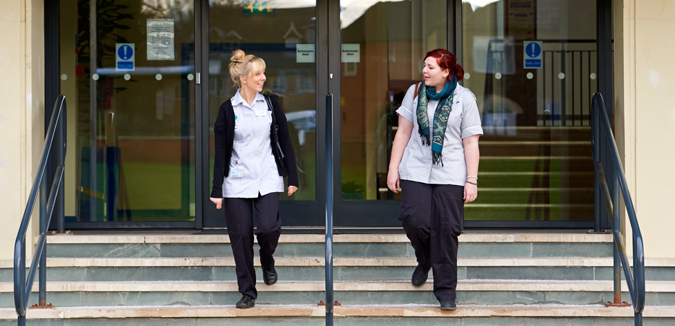Student nurses at Guild House