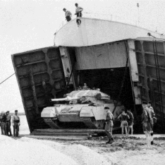 British tank in Egypt in 1956
