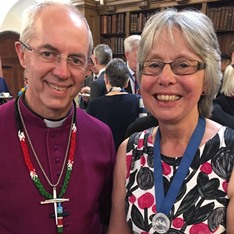 Archbishop of Canterbury Justin Welby and Dr Zoe Bennett