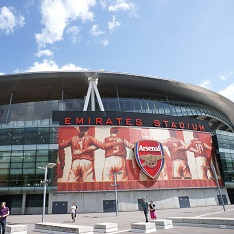 Arsenal's Emirates Stadium from the outside