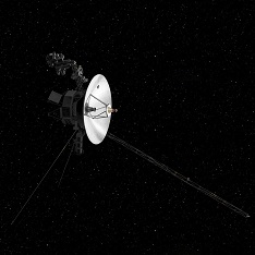 Artist's concept of the Voyager craft in space. Credit NASA