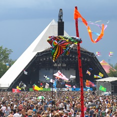 One of the stages at Glastonbury festival