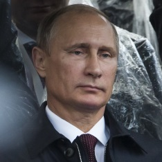 Head shot of Vladimir Putin
